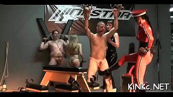 Female domination with naughty mistress using punishment devices