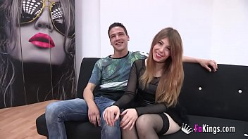 Rena has a surprise for her big dicked boyfriend's first threesome