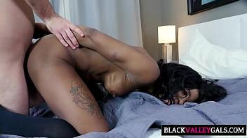 Big White Dick For Ebony Sweety Mya Mays