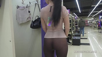 See dick through stomach Shopping for transparent clothing