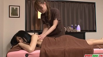 Aoi Miyama gives massage to hot babe then enjoys sex - More at Japanesemamas com