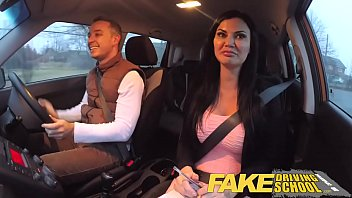 Xanax sex drive - Fake driving school exam failure ends in threesome double creampie