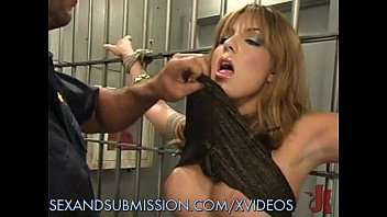 Sucking his hugh cock in our prison cell Jail bound