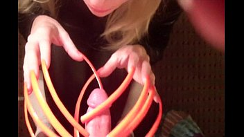 Hot Neon Orange Six inch Sexy Long Fingernails
