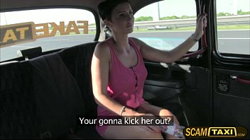 Hot Gabriella gets pussy pounded in the backseat of the taxi
