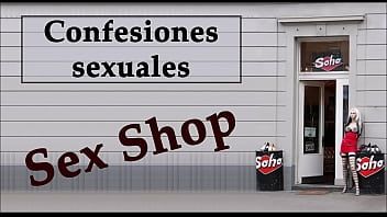 De relatos sexual Camarera y dueño de un sex shop. audio español. confesión sexual.