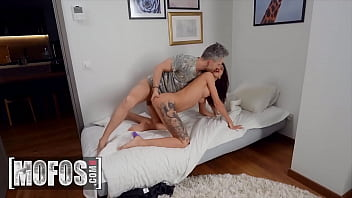(Lutro Steel) Finds His Sexy Brunette Girlfriend (Katrin Tequila) Masturbating And He Joins In - Mofos