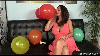 MILF Finds Blowjob Fun Amidst Birthday Preparations