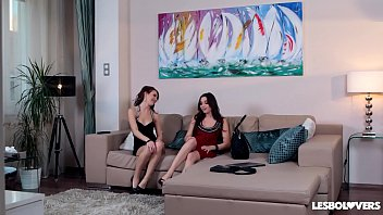 Lesbo lovers timea bela & diana dolce mount strap-on for dp action