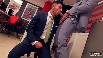 Hot suited gay sex Coworker into a deep and important project