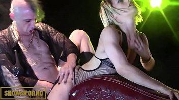 Punky pornstars orgy on stage