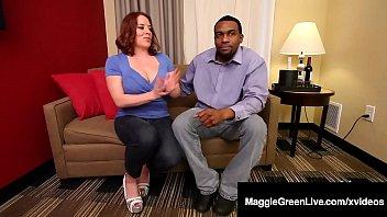 Super Big Tits Maggie Green Fucks Big Black Cock Rome Major!