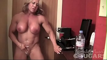 Muscular female escort london - Mature female bodybuilder poses and masturbates