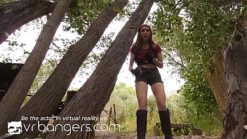 VR BANGERS Redhead's sex adventure in the woods