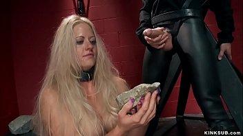 Big boobs blonde anal fucked threesome