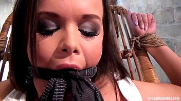 Linet bound gagged stripped whipped vibed machine-fucked