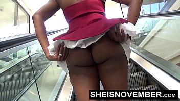 Msnovember Wedgie Big Booty Ass Black Girl Panties In Butt HD