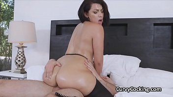 Fucking ass free videos - Fat ass curvy latina oiled then rimmed and fucked