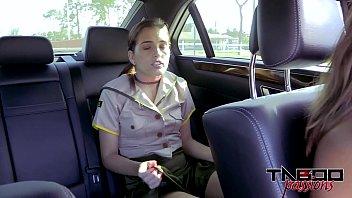 Horny Teen Brooke Haze Gives Stepdad Blowjob While Mom drives