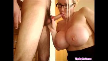 Big tit milf sucks the cock -  TheSophieJames.com