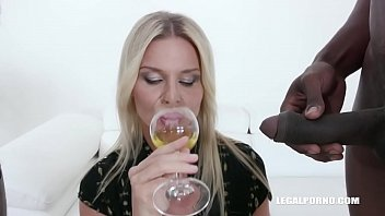 Nadya Basinger enjoys black cocks and black champagne IV360