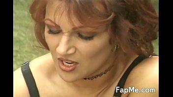 Slut shows off her cock sucking skills