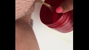 Pissing in my bath tub and playing porn image