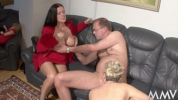 The nanny helps Martin up and Angelica's thighs open