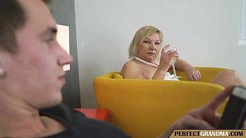 the chubby grandma seduces the young guy porn thumbnail