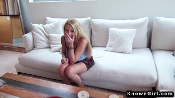 Blonde amateur fucks boyfriend POV on homemade
