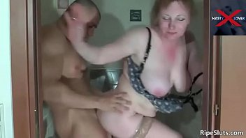 Gorgeous Step Mom Shitting in Toilet