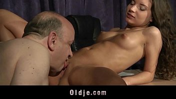 Tight Beautiful Teen Pussy Fucked By Fat Old Step-father