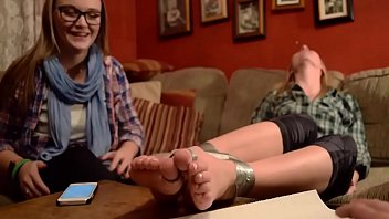 Delicious amateur teen feet bound and worshipped: Corinna & Delaney