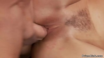 Busty redhead Milf anal fucked in public