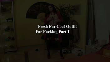 Fully Clothed Blowjop Furcoat Glamour Whore Outfit For Fucking