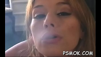 Women smoke suck - Gorgeous babe sucks a dick like a pro whilst smoking a cig