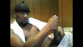 Cam gay live man - Black man stroking huge cock on webcam - sexyladcams.com