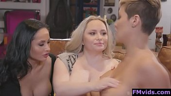 Ryan Keely Aiden Starr and Crystal Rush lesbian threesome