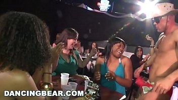 DANCING BEAR - Real Women, Real Horny, Sucking Big Dicks in a CFNM Party thumbnail