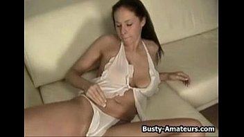 Busty gianna on solo masturbation as amateur