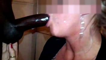 Deepthroat blowjob from expert mature cock hungry MILF