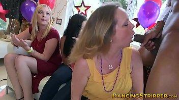 Bachelorettes slobbering on big hard stripper dicks