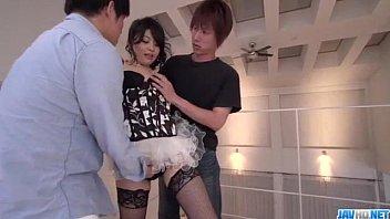 Cock Sucking Wife Rei Asamiya Endures Two Cocks