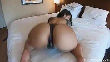 Thick Latina gags on random cock from the beach