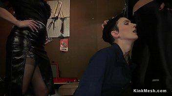 Dominant lesbians spanking mechanic