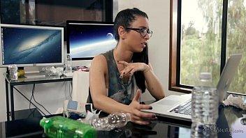 Geek Girl Creates Her Lesbian Lover thumbnail