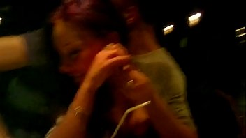 Drunk Chick Getting Finger Blasted At A Bar