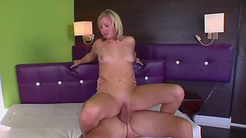 Blonde in heat struggling with a big cock
