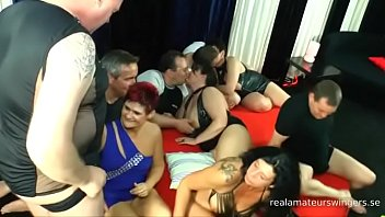 Ugly German real amateur swingers are having an orgy - part 1
