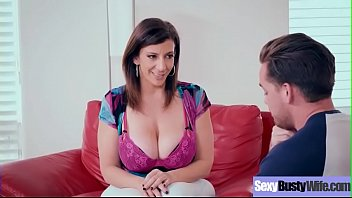(Sara Jay) Cute Lovely Sexy Big tits Wife In hard Sex Action Clip-23